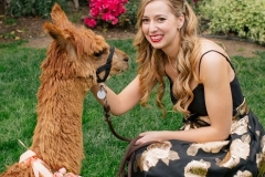 Hannah and her Alpaca during her engagement party