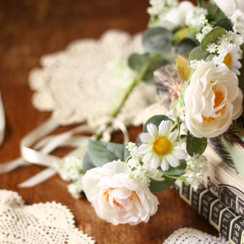 Rustic forest vintage flower crown