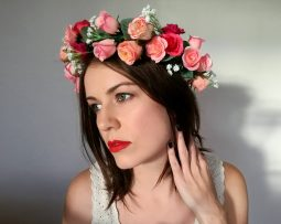 Vintage Rose Adult Flower Crown