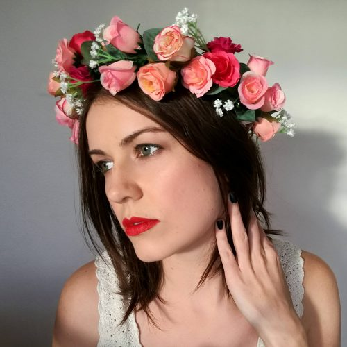 Vintage Rose Adult Flower Crown