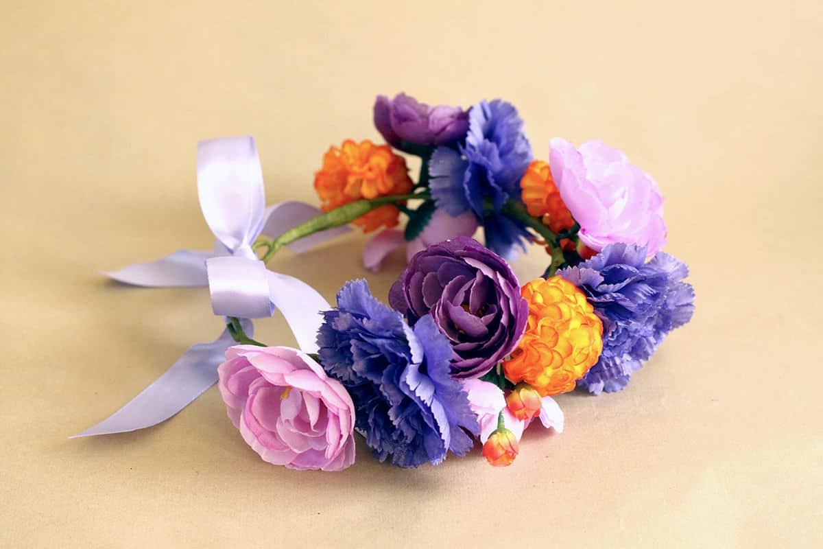 Juliette Bold Purple Dog Flower Crown Bark And Bloom Designs