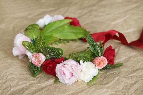 Jungle Pink Rose Flower Crown