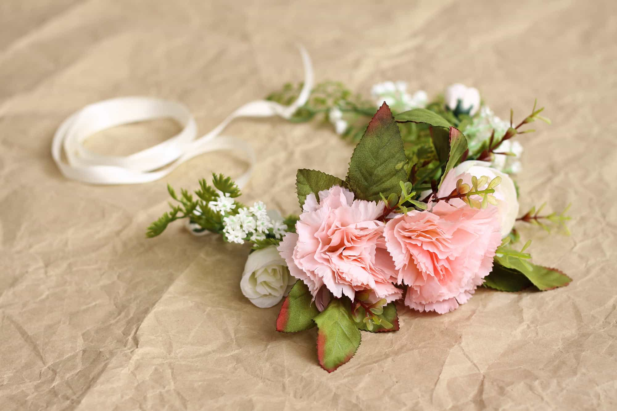 Darling Dusty Pink Rustic Adult Flower Crown Bark And Bloom