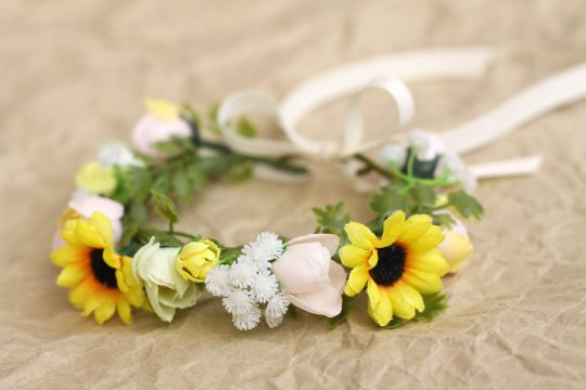 small cat sunflower collar