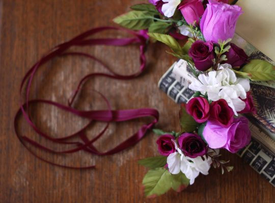 Purple Boho Adult Flower Crown