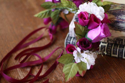Purple Boho Adult Flower Crown