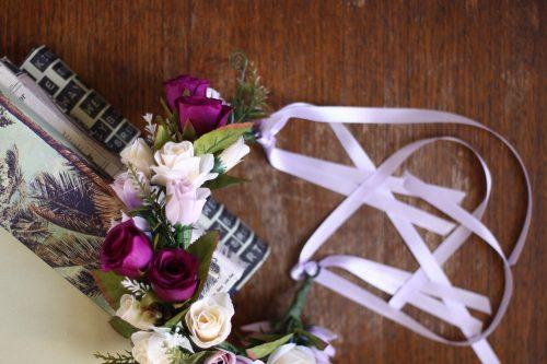 Purple Rose Flower Crown