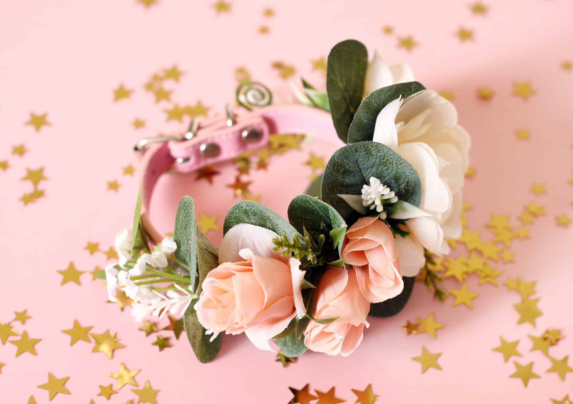 Just Peachy | Pink Puppy Cat Flower Collar - Bark and Bloom Designs ...