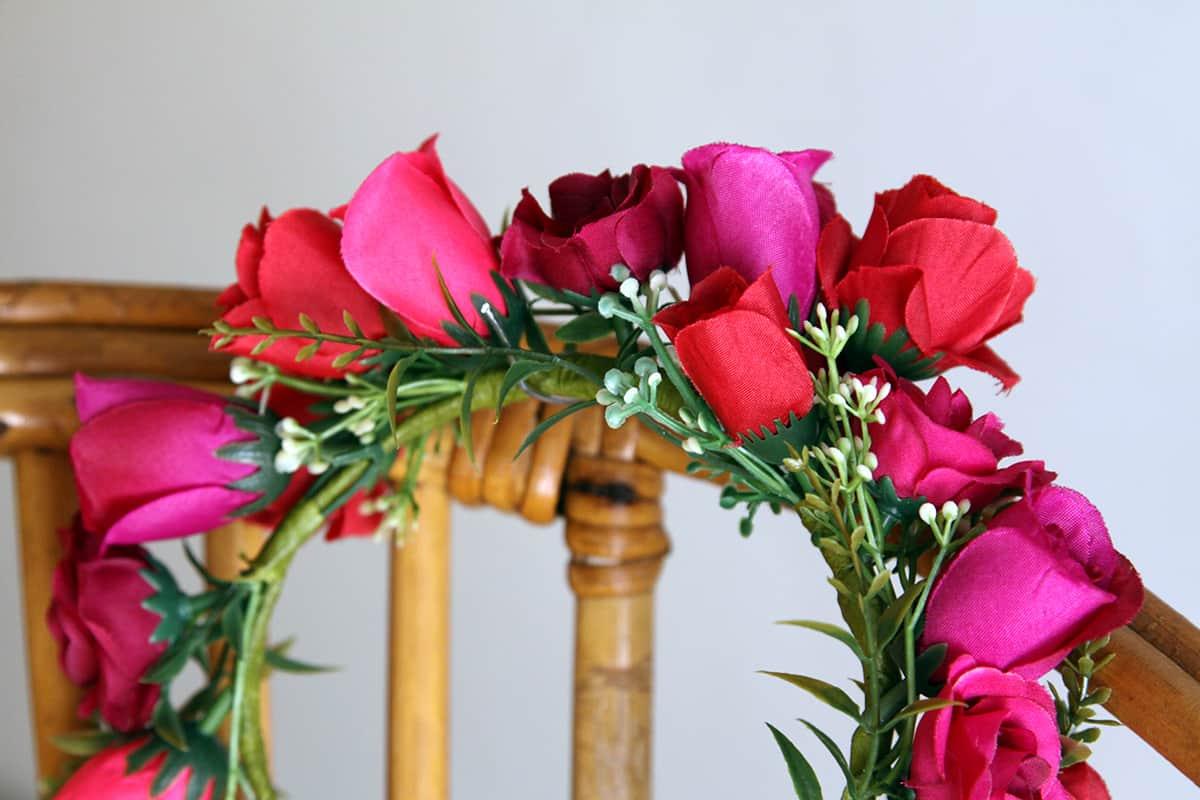 Athena Magenta Pink Dog Flower Crown Bark And Bloom Designs