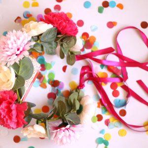 Boho Pink Adult Flower Crown